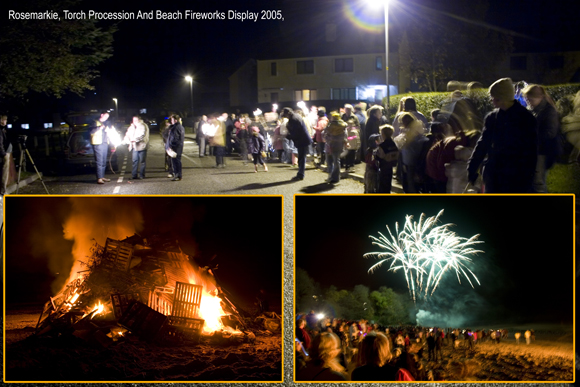 Rosemarkie Beach Fireworks Display 2005