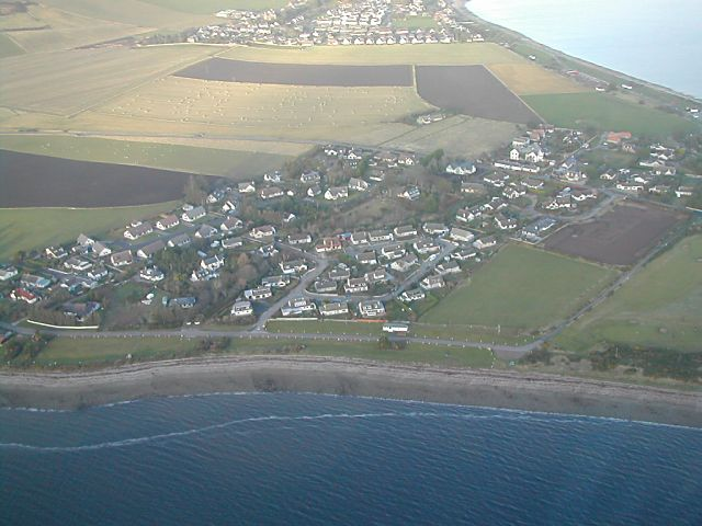 Wester Greengates from the air