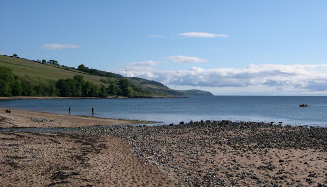 Sweep netting at Rosemarkie