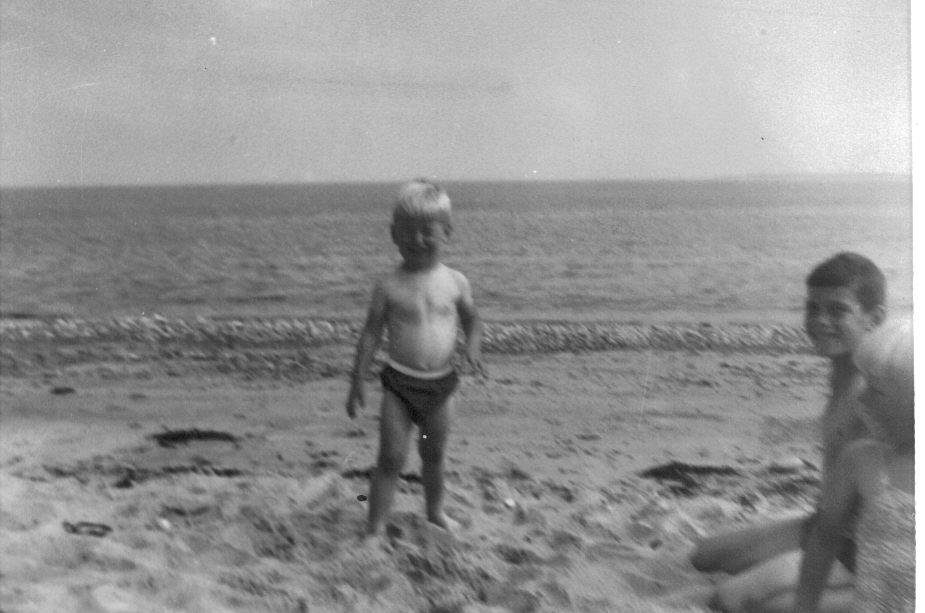 The beach at Rosemarkie, 1958