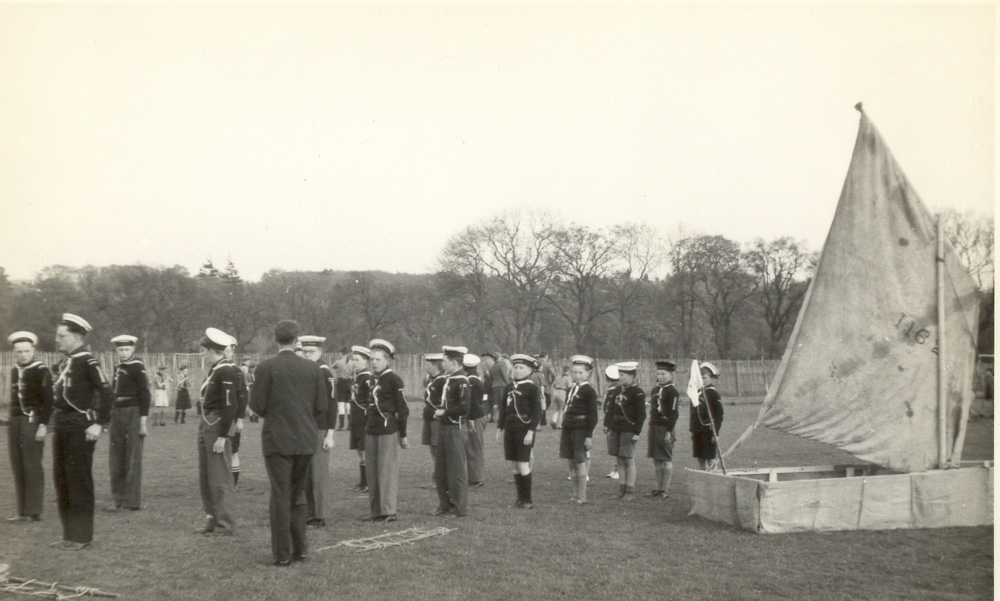 Scouts at Bught Park.