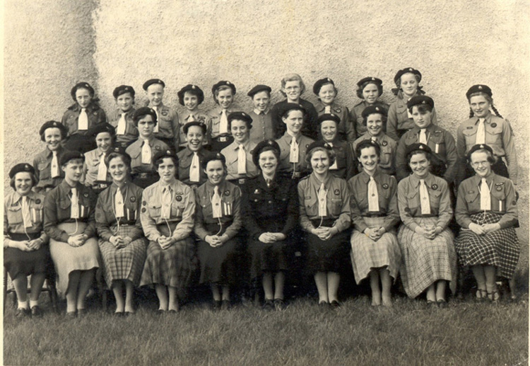 First Fortrose Girl Guides.