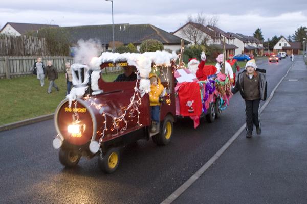 Santa comes to Rosemarkie