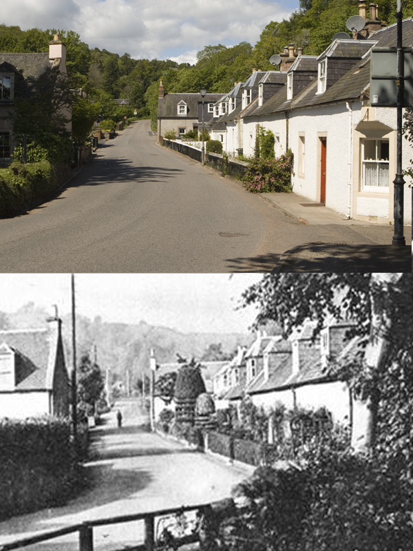 Now and then..   Bridge Street Rosemarkie