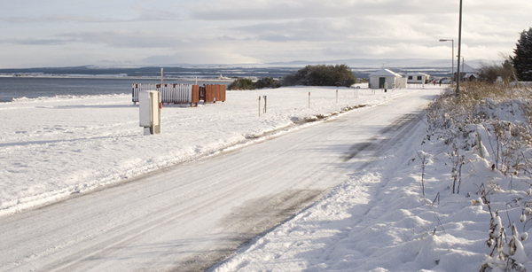 A cold Rosemarkie campsite