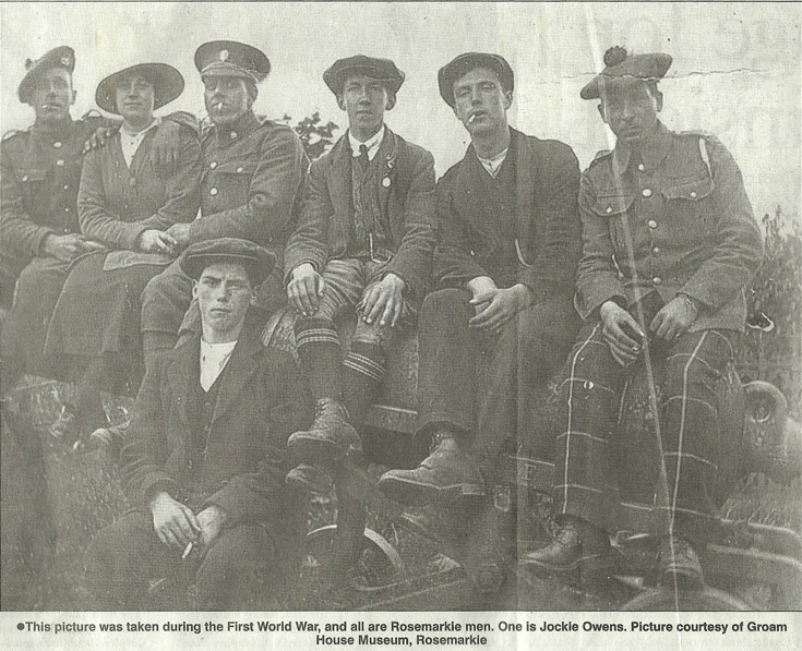 Rosemarkie soldiers during the First World War.
