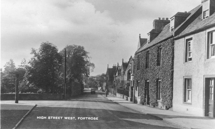 Fortrose High St. circa 1950.