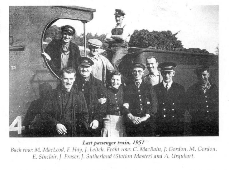 Last passenger train, 1951