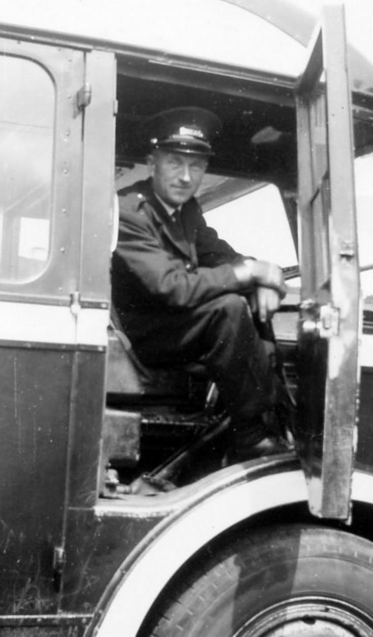 John Smith  Fortrose Bus Garage    1955