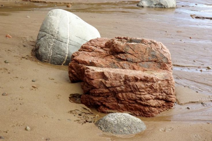 The Piano Rock on Rosemarkie Beach