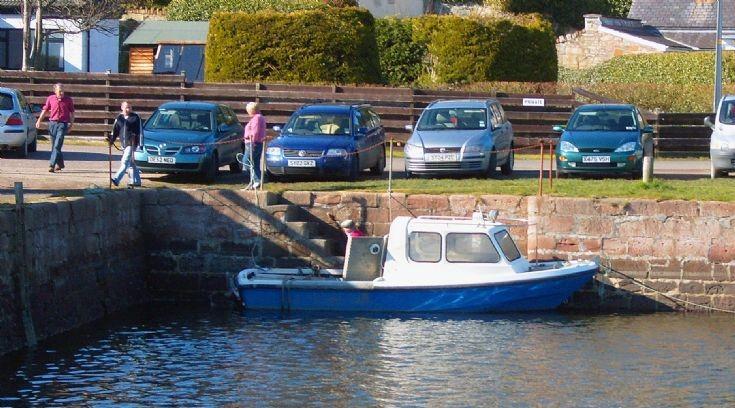 Bob Mackeddie in his boat