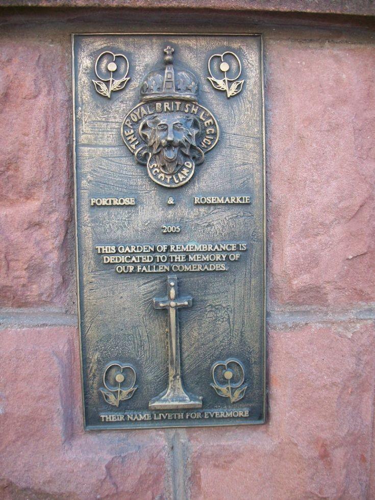British Legion plaque