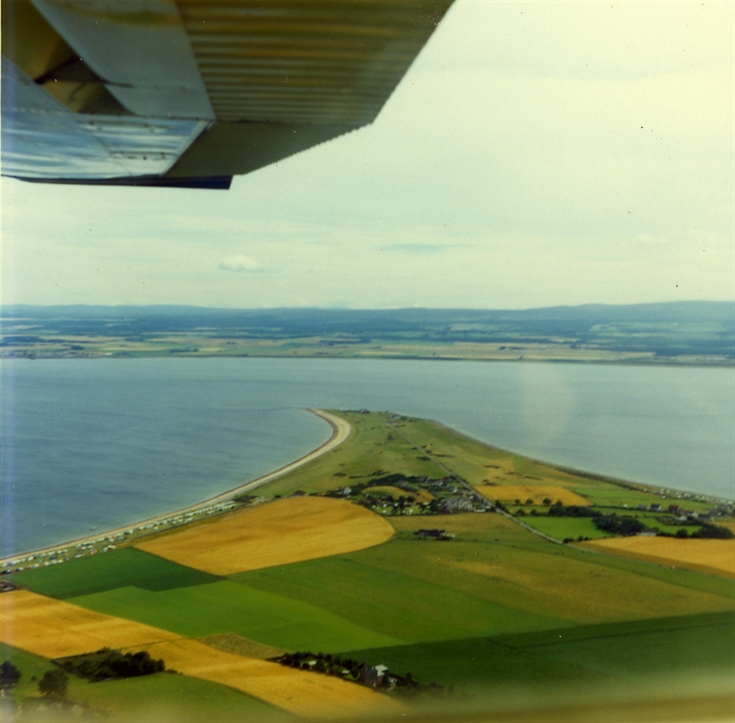 Aerial view of Chanonry Point