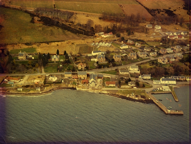 Aerial view of Fortrose Harbour