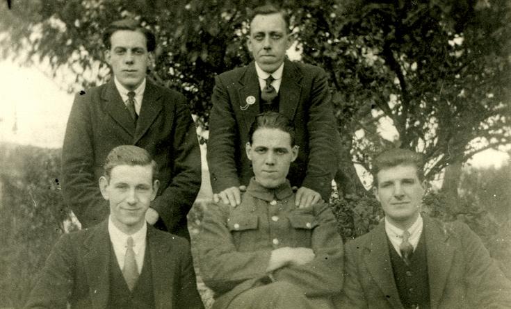 Group of five men