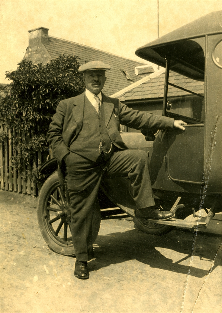 Mr McDonald with car