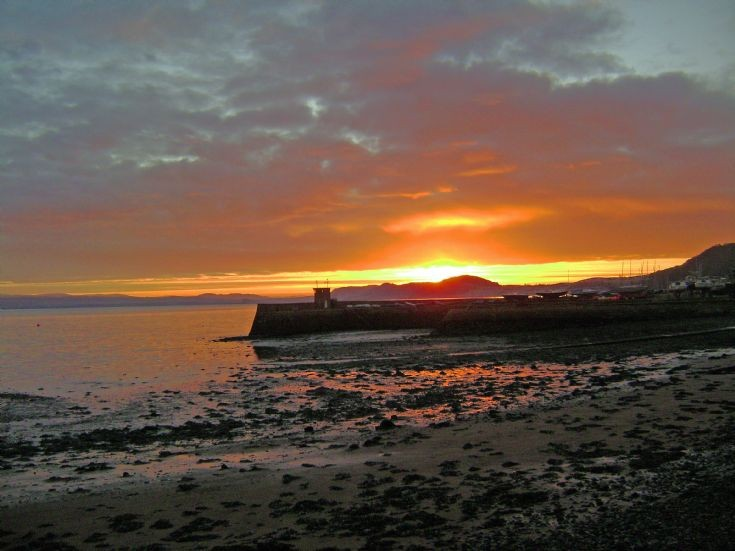 Sunset over Fortrose Harbour