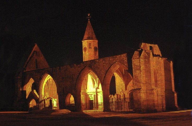 Fortrose Cathedral at night