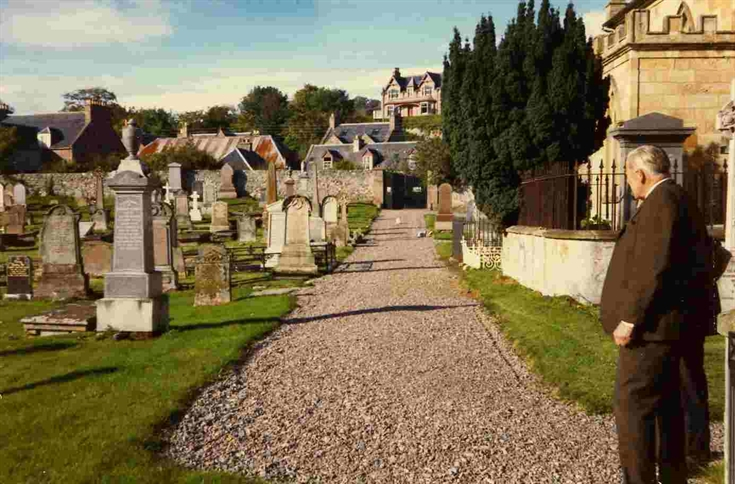 Rosemarkie Churchyard c.1973.