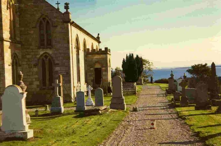 Rosemarkie Church and Churchyard c.1973.