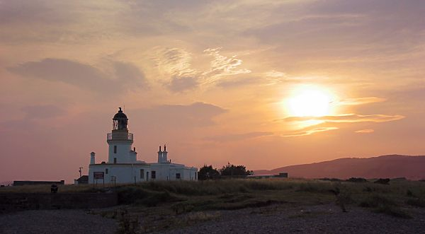 Summer sunset at the lighthouse