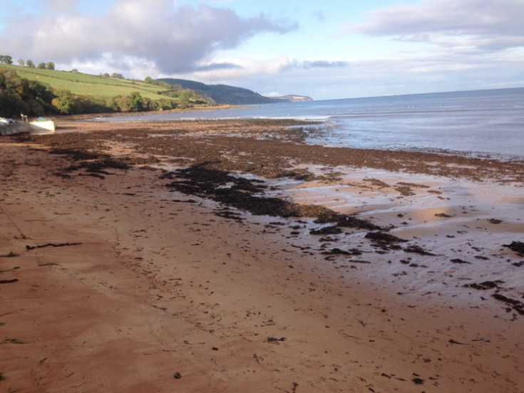 Rosemarkie beach after gales