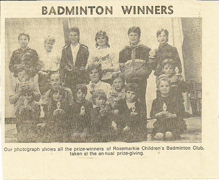 Rosemarkie Junior Badminton Club